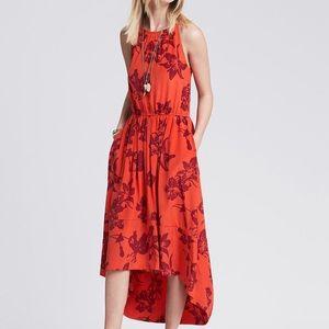 BANANA REPUBLIC Bold Floral High/Low Dress